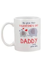 Elephant Daddy First Valentine's Day Mug back