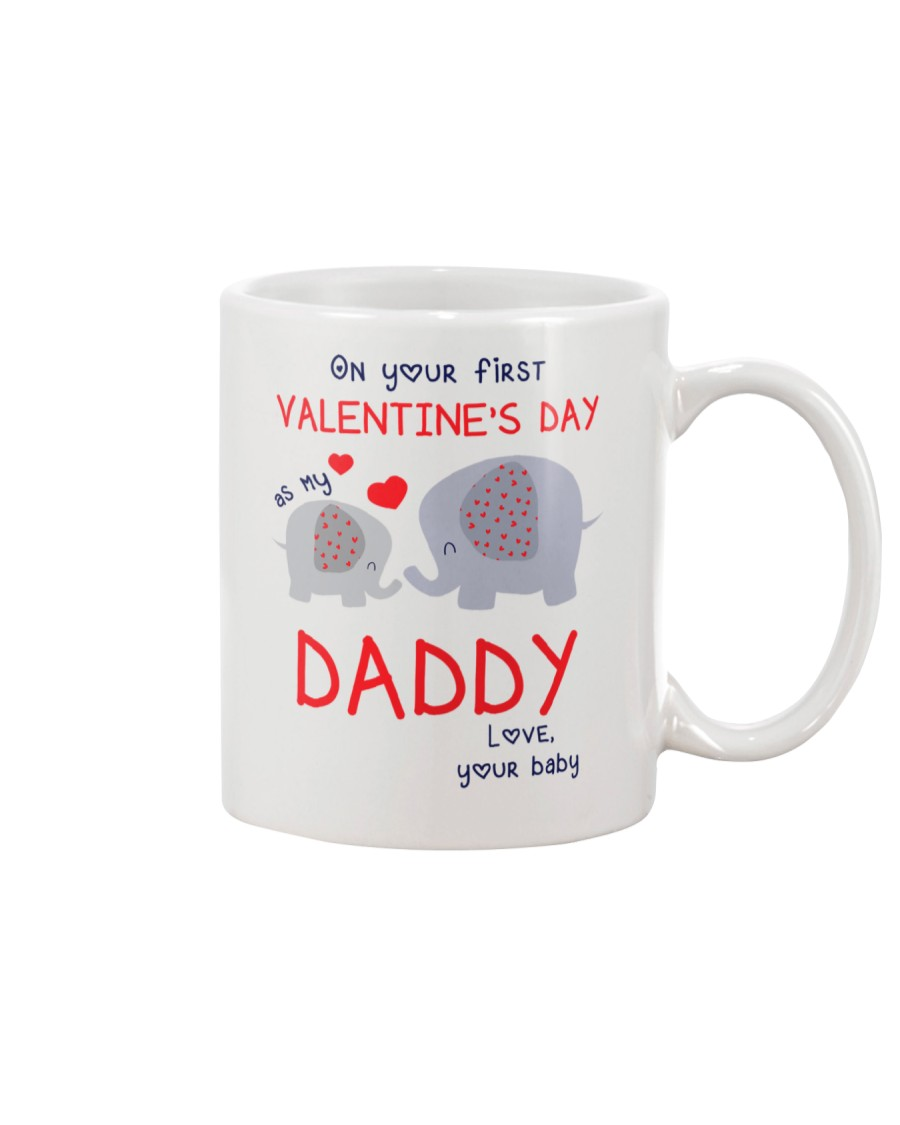 Elephant Daddy First Valentine's Day Mug