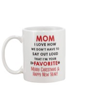 Mom Say Out Loud Xmas Mug back