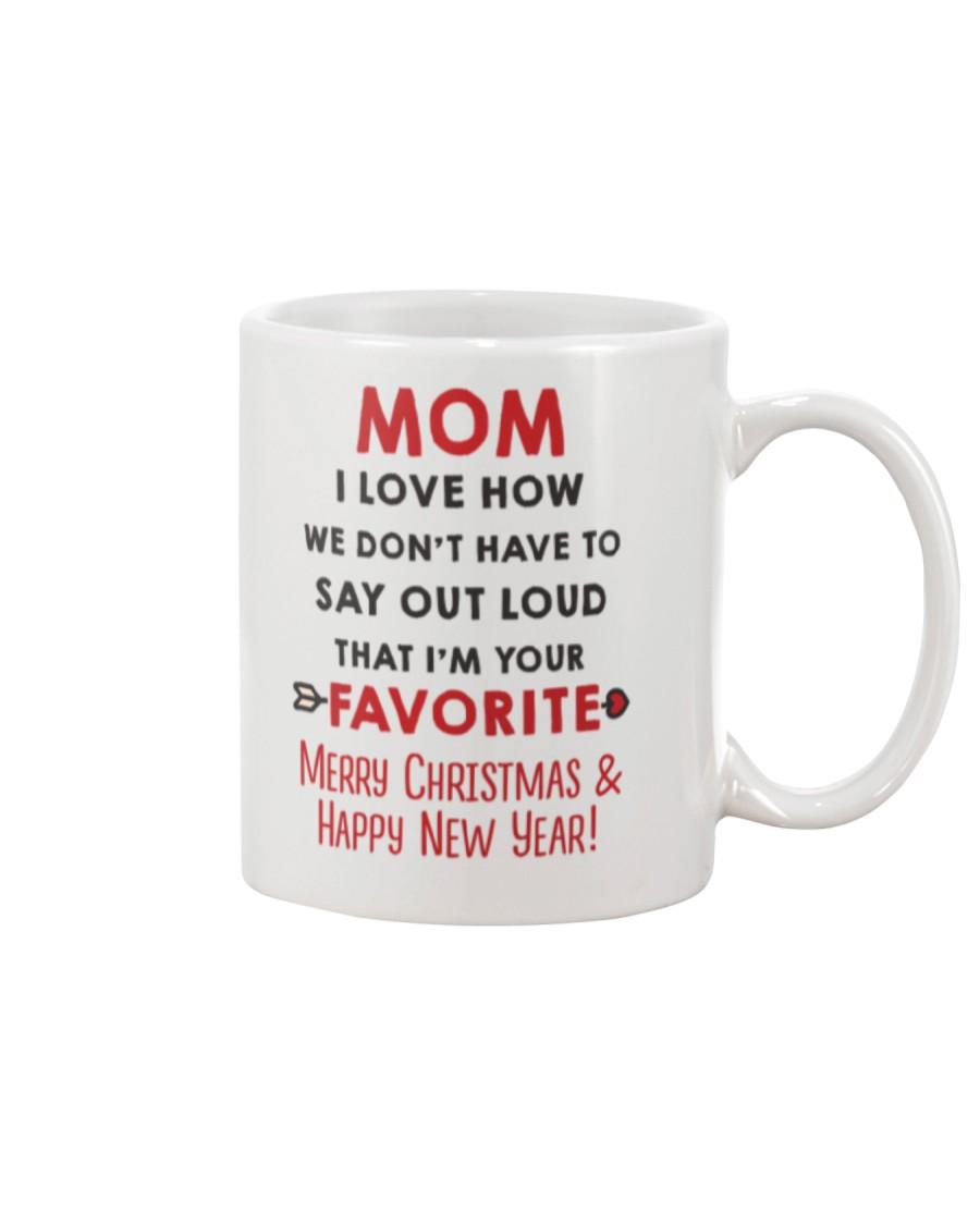 Mom Say Out Loud Xmas Mug