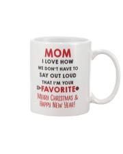 Mom Say Out Loud Xmas Mug front