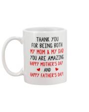 Being Mom And Dad Mug back