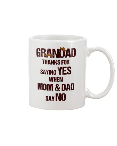Thank Grandad For Saying Yes