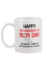 You-Knocked-Up Mom Day Mug back