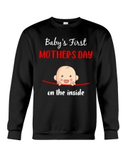 Baby First Mother's Day Inside Crewneck Sweatshirt thumbnail