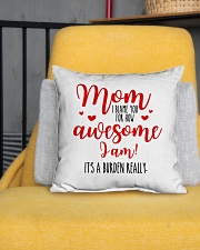 "Mom Awesome I Am Indoor Pillow - 16"" x 16"" aos-decorative-pillow-lifestyle-front-01"