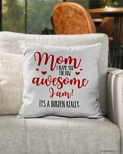"Mom Awesome I Am Indoor Pillow - 16"" x 16"" aos-decorative-pillow-lifestyle-front-04"