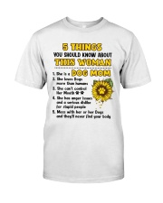 5 Things About Dog Mom Classic T-Shirt front