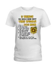 5 Things About Dog Mom Ladies T-Shirt thumbnail