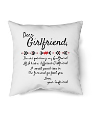 """Thanks For Being My Girlfriend Indoor Pillow - 18"""" x 18"""" thumbnail"""