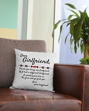 Thanks For Being My Girlfriend Square Pillowcase aos-pillow-square-front-lifestyle-03