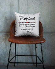 Thanks For Being My Girlfriend Square Pillowcase aos-pillow-square-front-lifestyle-04