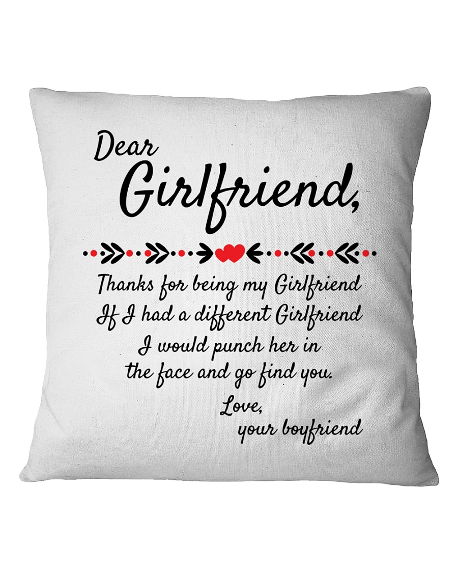 Thanks For Being My Girlfriend Square Pillowcase