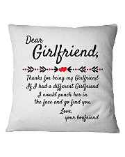 Thanks For Being My Girlfriend Square Pillowcase front