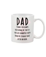 Dad Reassuring Me Mug front