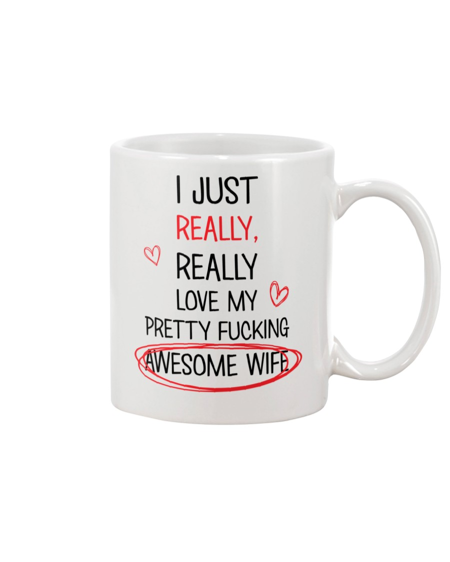 Love Pretty Awesome Wife Mug