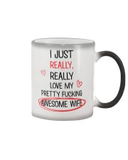 Love Pretty Awesome Wife Color Changing Mug thumbnail