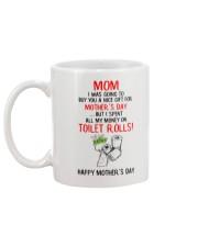 Spend All Money On Toilet Rolls Mug back