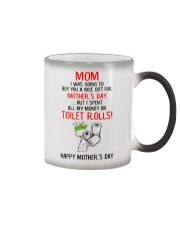 Spend All Money On Toilet Rolls Color Changing Mug thumbnail