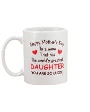Mom Has Greatest Daughter Mug back