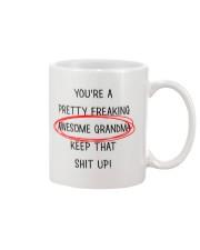 Pretty Freaking Awesome Grandma Keep Up Mug front