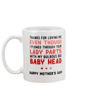 Bulbous Big Baby Head Mug back