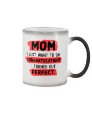 Mom Congratulation Color Changing Mug tile