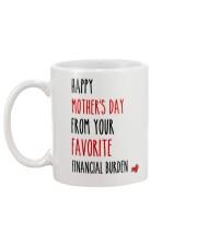 Favorite Financial Burden Mug back