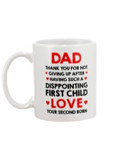 Not Giving Up After First Child Mug back