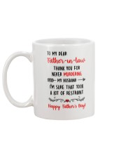 Never Murder Father-in-law Mug back
