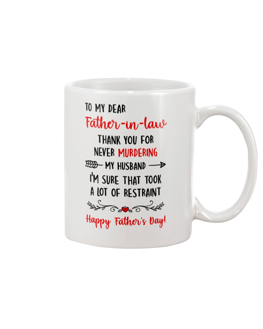 Never Murder Father-in-law Mug