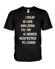 Grandpa Adjectives V-Neck T-Shirt front