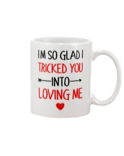 Trick You Love You  Mug tile