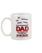 Not The Word Before Dad Mug back