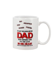 Not The Word Before Dad Mug front