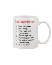 Thank Dad For Mug front