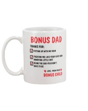 Bonus Dad Thanks For Mug back