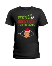 Baby First Christmas Inside Ladies T-Shirt thumbnail