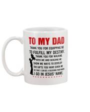 To my dad equipping Mug back
