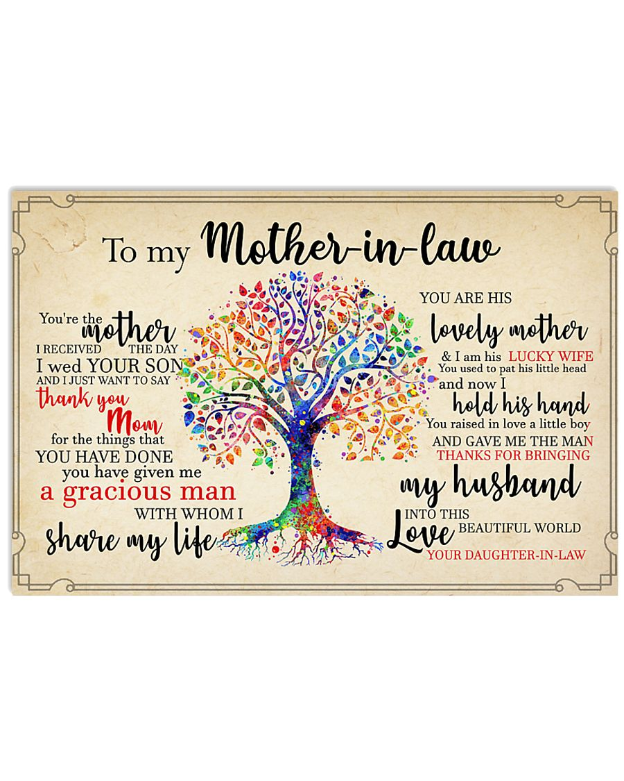 To My Mother-in-law 17x11 Poster