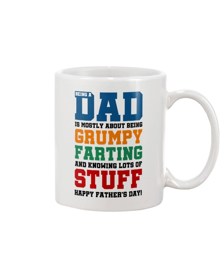 Grumpy Farting Knowing Stuff Dad Mug