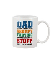 Grumpy Farting Knowing Stuff Dad Mug front