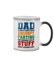 Grumpy Farting Knowing Stuff Dad Color Changing Mug thumbnail