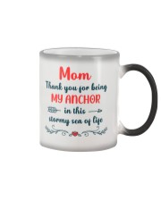 Anchor In Stormy Sea Color Changing Mug tile
