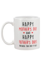 Mother's Father's Day Did It All Mug back