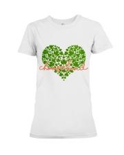 Choose Kind Shamrock Heart Premium Fit Ladies Tee thumbnail
