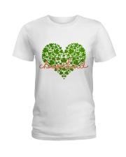 Choose Kind Shamrock Heart Ladies T-Shirt thumbnail