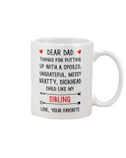 Dad Putting Up With My Sibling Mug front