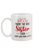 Best sister ever not a bitch Mug back