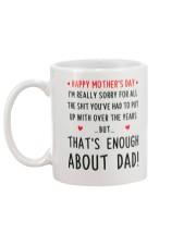 Enough About Dad Mug back